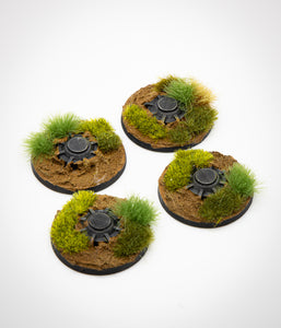 Legion Mine Tokens: Grasslands Terrain -  (set of 4)