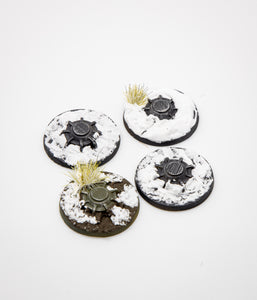 Legion Mine Tokens: Snow Terrain -  (set of 4)