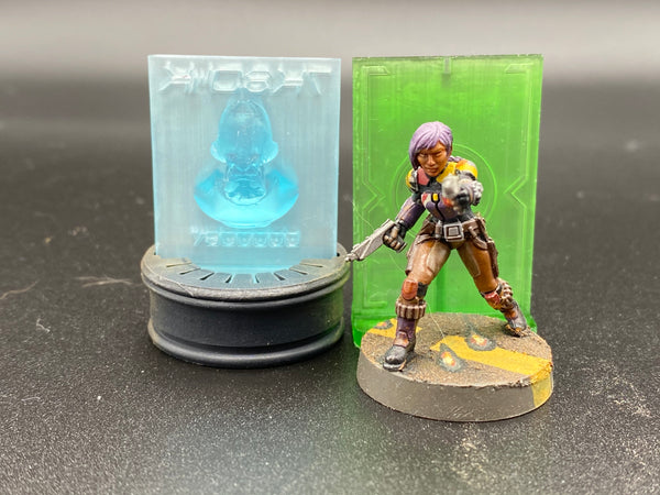 Glowing Bounty Puck Holo-Silhouette (Limited Edition Small Base Trooper Silhouette)
