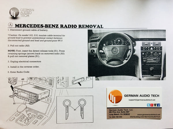 Mercedes Benz Factory Radio Removal Instructions