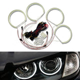 BMW E39 E46 3-Series 5-Series Xenon White Headlight SMD 7000K LED Angel Eyes Halo Rings Kit