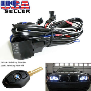 Angel Eyes Halo Rings for BMW E46 LED or CCFL Relay Harness w/ Fade-on Fade-off Features