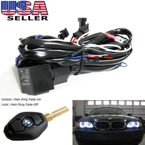 BMW E46 Angel Eyes Halo Rings LED or CCFL Relay Harness w/ Fade-on Fade-off Features