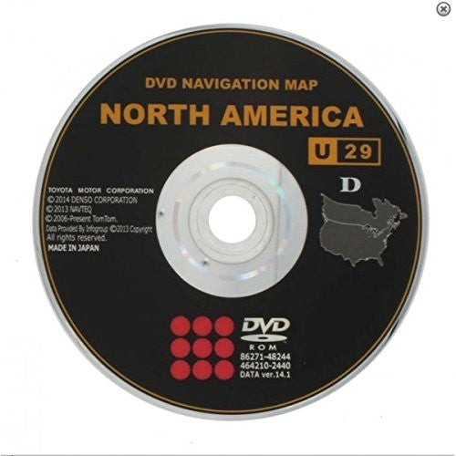 TOYOTA SCION and LEXUS Generation 4 Navigation 2015 Map Update DVD Disc U29 Ver. 14.1, U30 15.1