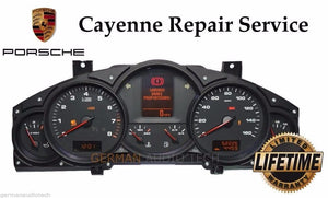 REPAIR SERVICE for PORSCHE CAYENNE V6 INSTRUMENT SPEEDOMETER CLUSTER LCD DISPLAY 2004 2005 2006