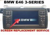 LCD REPLACEMENT SERVICE for BMW E46 325 328 330 M3 16:9 WIDE SCREEN NAVIGATION MONITOR