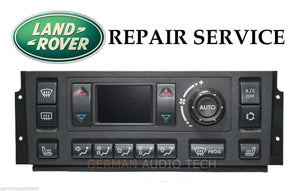 PIXEL DISPLAY REPAIR SERVICE for 1995-2001 RANGE ROVER P38 CLIMATE CONTROL AC HEATER DISPLAY