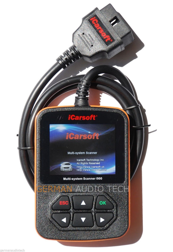 iCARSOFT i900 for GENERAL MOTORS GM DIAGNOSTIC SCANNER TOOL SRS ABS AIRBAG RESET ERASE FAULT CODE