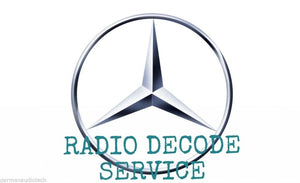 Radio Code Unlock Service for Mercedes Benz AM FM Radio Cassette Alpine Becker