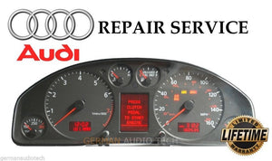 PIXEL DISPLAY REPAIR SERVICE for AUDI A4 S4 A6 S6 TT INSTRUMENT SPEEDOMETER CLUSTER DASH
