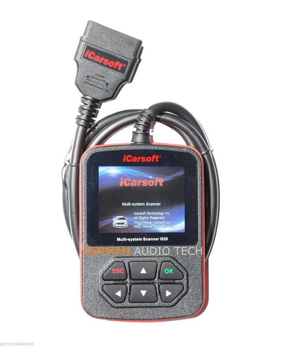 FORD LINCOLN MERCURY OBD2 DIAGNOSTIC SCANNER TOOL RESET ERASE FAULT CODE READER HOLDEN - iCARSOFT i920