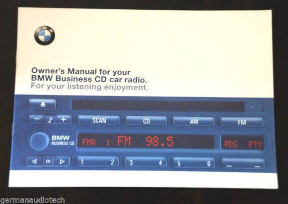 New OWNER'S MANUAL for BMW BUSINESS CD43 CD PLAYER RADIO STEREO BLAUPUNKT ORIGINAL BOOK