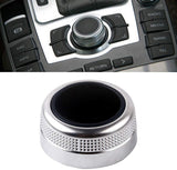 Chrome MMI Rotary Knob Main Menu Switch Cover For Audi A6 C6 A8 Allroad Quattro 2004 05 06 07 08 09 10 Q7 2007 2008 2009 RS6 4F0919069
