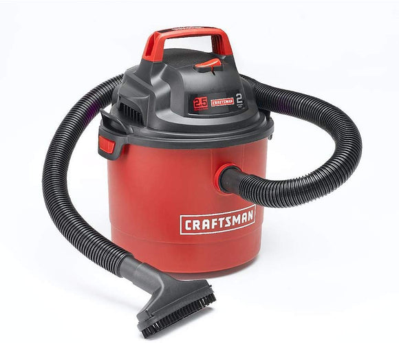 Craftsman Car Vacuum 2.5 Gallon 2 Peak HP Floor Carpet Wet/Dry Vac w/ Wall Mount