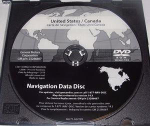 Newest Version Maps for 2007 2008 2009 2010 2011 GM GMC BUICK PONTIAC SATURN CADILLAC CHEVY GPS NAVIGATION CD DVD UPDATE DISC p/n: 23286667 Ver. 14.3