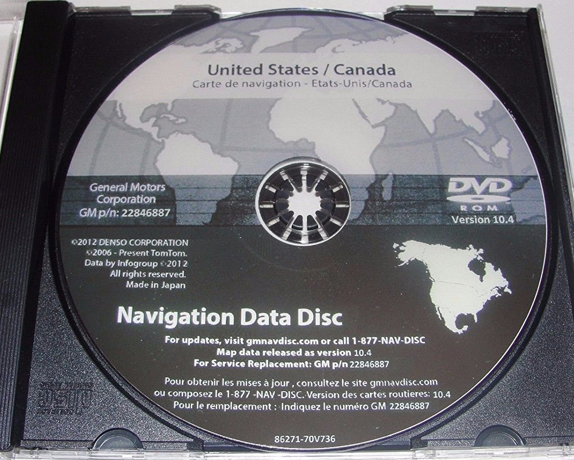 Gm United States Canada Map Disc 2006 Newest Version 2016 Maps for 2003 2004 2005 2006 GM GMC BUICK