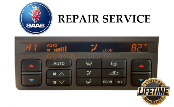 REPAIR SERVICE for SAAB 95 (ACC) CLIMATE CONTROLLER DISPLAY PIXEL 1999-2004