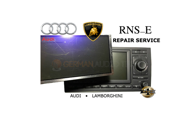 LCD REPLACEMENT SERVICE for AUDI LAMBORGHINI GALLARDO RNSE RADIO NAVIGATION PLUS