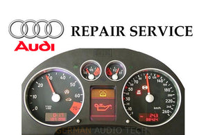 REPAIR SERVICE for AUDI TT INSTRUMENT SPEEDOMETER CLUSTER DASH PIXEL DISPLAY 1999 2000 2001 2002 2003 2004