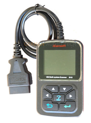 BMW OBD2 DIAGNOSTIC SCANNER TOOL FAULT CODE CLEAR ABS OIL SERVICE RESET -  iCARSOFT i910-II