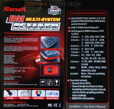 BMW OBD2 DIAGNOSTIC SCANNER TOOL FAULT CODE CLEAR ABS OIL