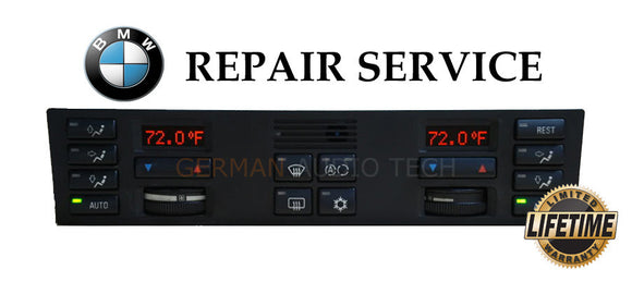 PIXEL REPAIR SERVICE for BMW 1995 1996 E38 740 750 CLIMATE CONTROL DISPLAY AC HEAT