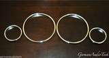 CHROME GAUGE RINGS FOR BMW E38 7-SERIES E39 5-SERIES E53 X5 SPEEDOMETER CLUSTER