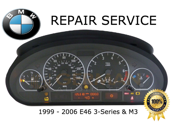 Repair Service for BMW E46 3-Series M3 Instrument Speedometer Cluster Odometer