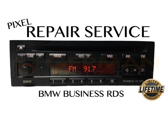 Pixel Display Repair Service for BMW BUSINESS CD RDS CD23 Radio