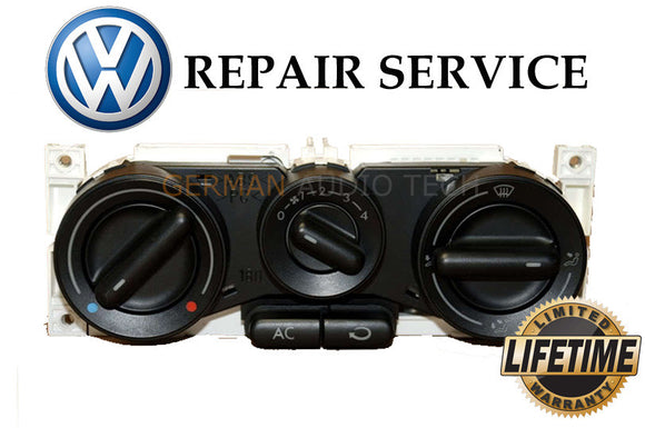 REPAIR SERVICE for 1998-2010 VOLKSWAGEN VW BEETLE CLIMATE CONTROL A/C HEATER