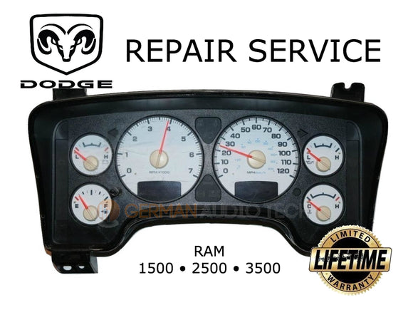 REPAIR SERVICE for DODGE RAM 1500 2500 3500 TRUCK GM RPM GAUGE 2003 2004 2005 2006 2007