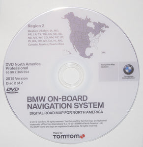 BMW NAVIGATION DVD UPDATE PROFESSIONAL 2015 VERSION WEST & EAST DVD Set (2) - Front Load