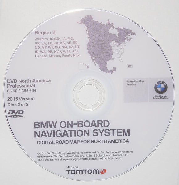 Latest PROFESIONAL NAVIGATION UPDATE for BMW CIC CCC WEST & EAST DVD USA CANADA Front Load