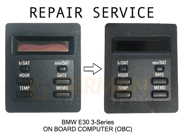 Repair Service for BMW E30 3-Series M3 On Board Computer OBC Clock