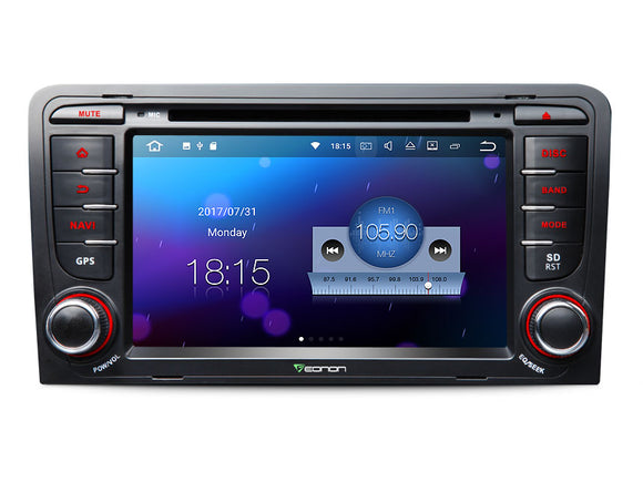 2003 - 2011 AUDI A3 S3 7″ DIGITAL TOUCH SCREEN ANDROID IOS MULTIMEDIA CAR DVD GPS Eonon