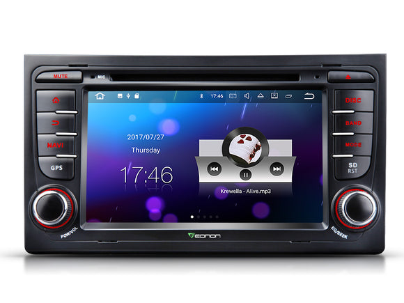 AUDI A4 S4 RS4 7″ DIGITAL TOUCH SCREEN ANDROID IOS MULTIMEDIA CAR DVD GPS