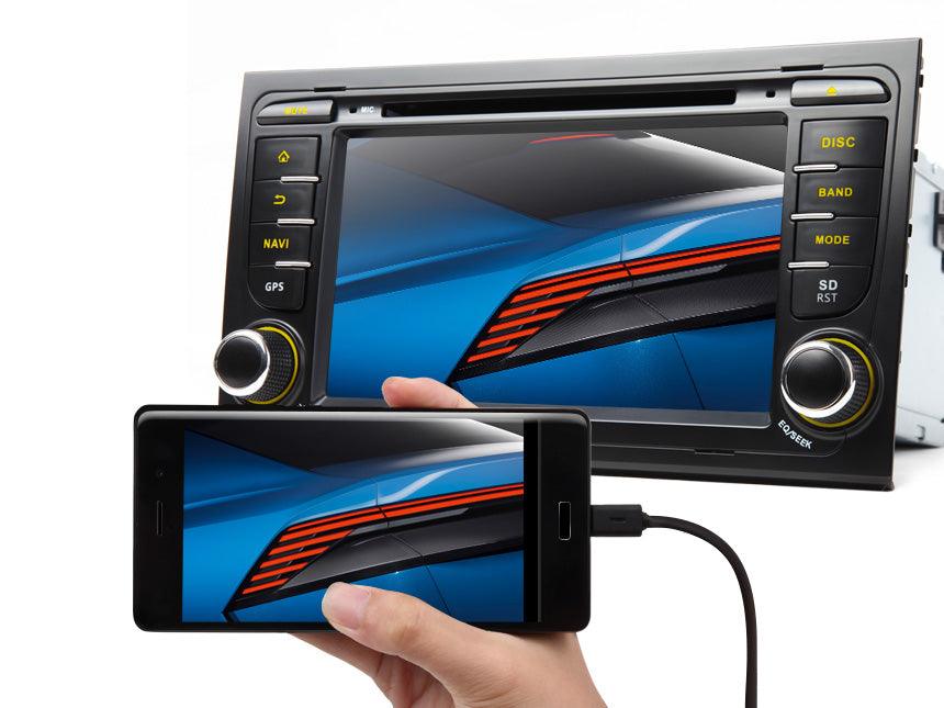 AUDI A4 S4 RS4 7″ MULTIMEDIA NAVIGATION RADIO ANDROID IOS