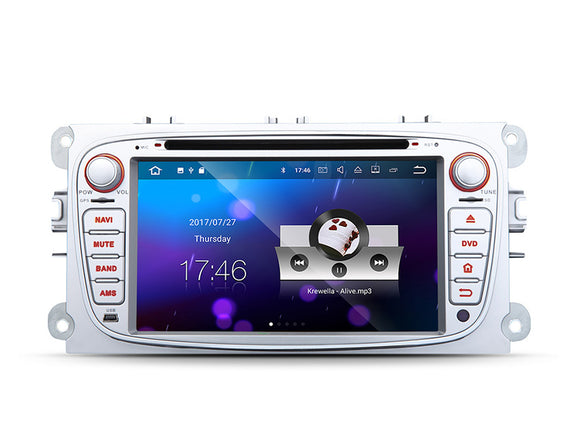 FORD FOCUS S-MAX MONDEO 7″ DIGITAL TOUCH SCREEN ANDROID iOS MULTIMEDIA CAR DVD GPS (Silver)