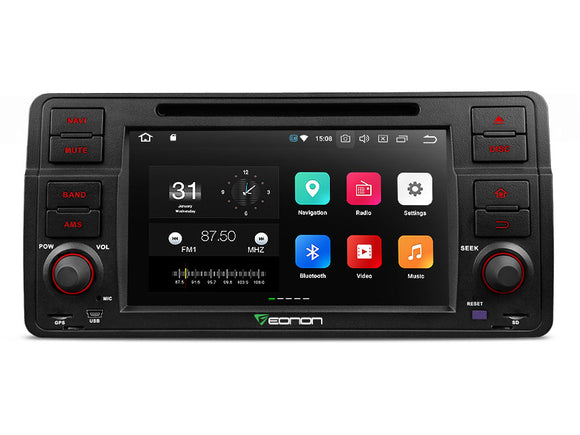 BMW E46 3-SERIES M3 7″ MULTIMEDIA NAVIGATION RADIO ANDROID IOS DVD GPS
