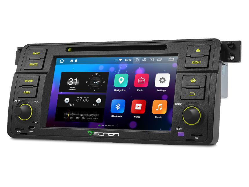 BMW E46 3SERIES M3 7 DIGITAL TOUCH SCREEN ANDROID IOS MULTIMEDIA