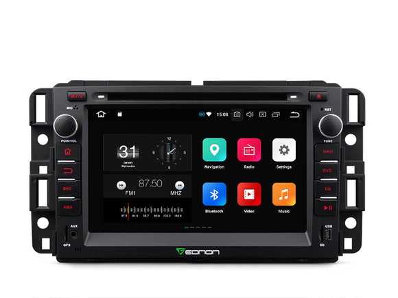 GMC DENALI YUKON CHEVY IMPALA SILVERADO BUICK ENCLAVE 7″ DIGITAL TOUCH SCREEN ANDROID IOS MULTIMEDIA CAR DVD GPS