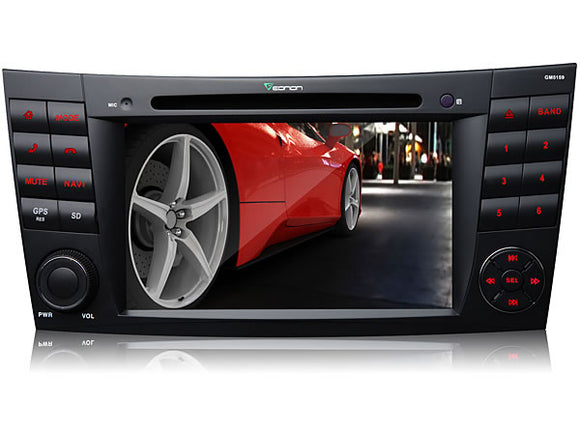 MERCEDES BENZ W211 E-Class C219 CLS-Class 7″ DIGITAL TOUCH SCREEN ANDROID IOS MULTIMEDIA CAR DVD GPS