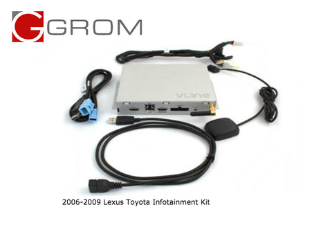 GROM VLine Infotainment Navigation System Video Interface for 2006-2009 LEXUS TOYOTA