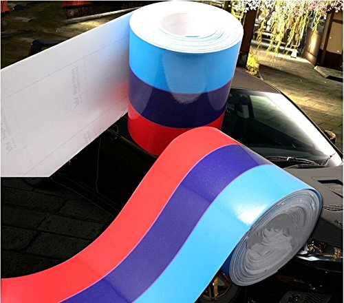 BMW ///M Performance Vinyl Stripe for Race Car Body Exterior Grill Fender Hood Decal Sticker Emblem