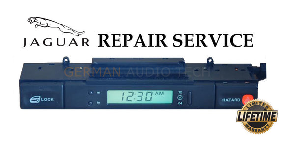 REPAIR SERVICE for JAGUAR 1994-97 XJ6 XJR X300 CLOCK LCD DISPLAY HAZARD SWITCH