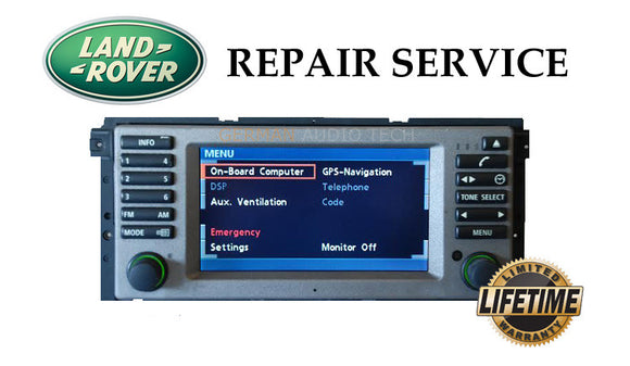 LCD REPLACEMENT SERVICE for RANGE ROVER L322 NAVIGATION RADIO MONITOR SCREEN