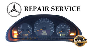 PIXEL REPAIR SERVICE for MERCEDES BENZ W202 W208 W210 INSTRUMENT CLUSTER