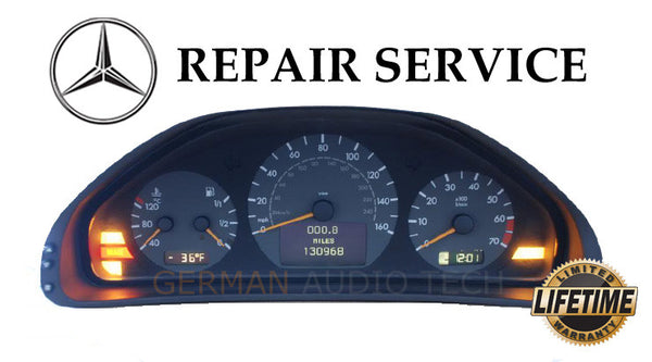 Mercedes benz w208 w210 instrument cluster pixel repair for Mercedes benz cluster repair