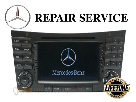 LCD REPLACEMENT SERVICE for MERCEDES COMAND NAVIGATION SYSTEM RADIO MONITOR DISPLAY