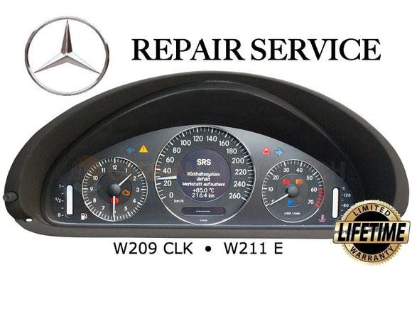 REPAIR SERVICE for MERCEDES BENZ W211 W209 W219 INSTRUMENT SPEEDOMETER CLUSTER GEAR WHEEL REPLACEMENT